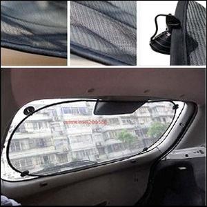 TwinS汽車後擋風玻璃遮陽簾100*50cm【夏日爆款】4吸盤款