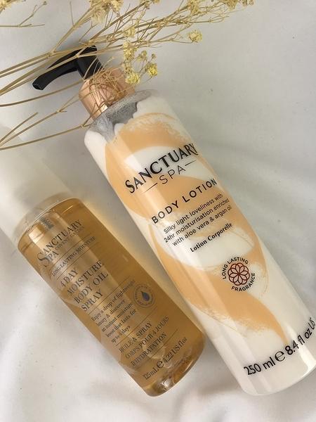 *禎的家* 英國 Sanctuary 聖活泉 身體保濕潤膚組 乳液+按摩油
