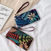 新款手機零錢包女手拿包時尚布藝文藝森系小手包牛津布長款小包包