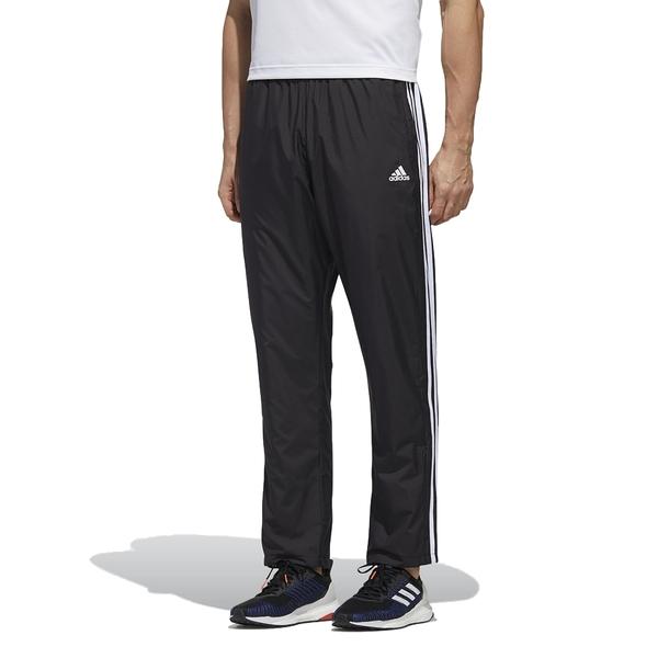 【現貨】ADIDAS 3-STRIPES 男裝 長褲 訓練 防風 防潑水 口袋 刷毛 黑【運動世界】GE0428