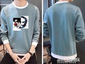 長袖衛衣男長袖T恤男士打底衫圓領衣男學生韓版潮流帥氣衛衣男上衣服   傑克型男館