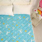 義大利Fancy Belle X Malis《小飛馬-粉藍》防蹣抗菌透氣防水平面式保潔墊--特大