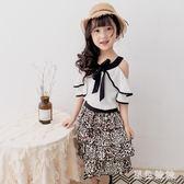 2019兒童短裙夏新品女童時髦豹紋層層蛋糕洋裝中長款雪紡半身裙子 GD936『黑色妹妹』