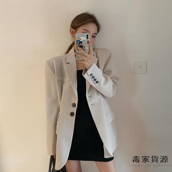 小個子西服韓版設計感百搭氣質收腰小西裝外套女【毒家貨源】