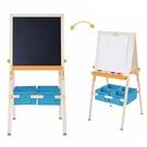 【贈14件組水果切切樂】Teamson 梵谷兒童收納雙面可調式畫架-木紋/藍色