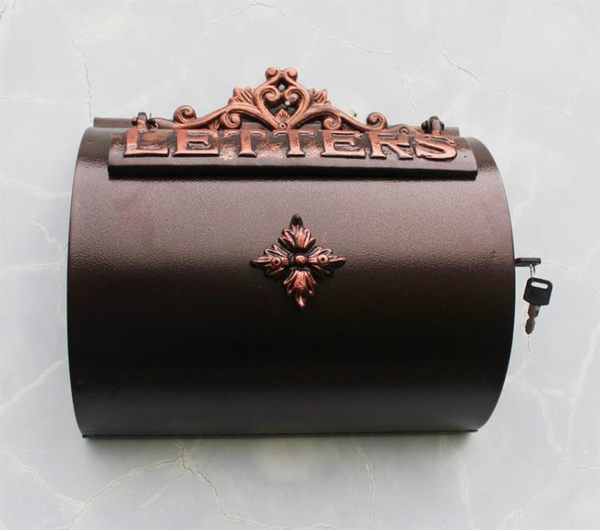 歐式庭院家居鑄鋁工藝品壁掛式信報箱郵箱鐵藝信箱別墅裝飾品