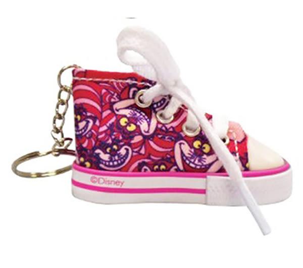 日本迪士尼 妙妙貓 可愛帆布鞋鑰匙圈 愛麗絲夢遊仙境  該該貝比日本精品 ☆