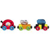 【免運費】《 德國 Hape 愛傑卡》 軌道組合 - 瓢蟲火車 (無軌道)╭★ JOYBUS玩具百貨