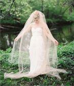 頭紗 香檳色頭紗女軟紗新娘結婚頭紗 莎拉嘿幼