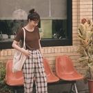 Queen Shop【01038698】純色圓領短版短袖上衣 五色售*現+預*
