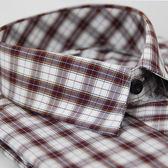 【金‧安德森】紅白格紋橘線短袖襯衫
