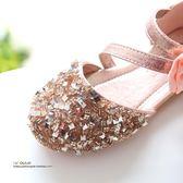 女童皮鞋 亮片女童鞋涼鞋寶寶鞋