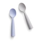 金山設計品牌 Miniware】天然寶貝矽膠湯匙組-芝麻+淺薰衣草