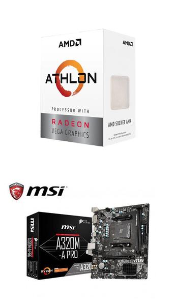 (AMD 3000G組合)AMD Athlon-3000G+微星A320M-A PRO