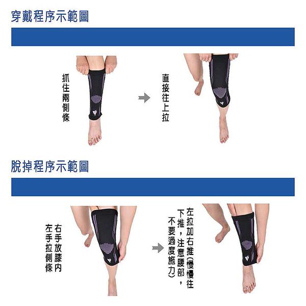 護具 吸濕排汗黑紫色護膝 GoAround  激能型3D壓縮護膝(1入) 醫療護具 排汗護膝 膝蓋保護 杜邦萊卡