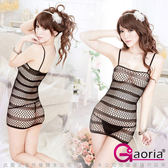 VIVI情趣用品專賣店 性感睡衣 情趣商品 情趣睡衣Gaoria放肆小惡魔-緊身裙貓裝網衣