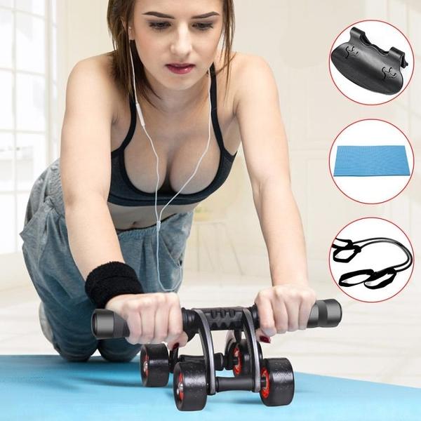 腹肌輪男士三輪減肚子女馬甲線鍛煉運動家用收腹肌健身器材健腹輪【快速出貨】