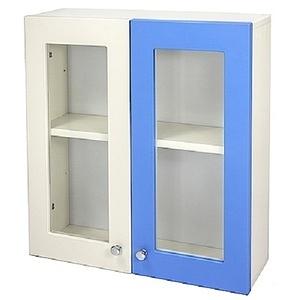 Aaronation 藍白雙色時尚塑鋼雙開浴櫃 GU-C1019-WB