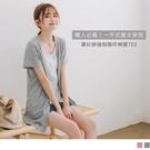 《AB13053-》台灣製造.外套式拼接假兩件層次感棉質長版上衣/T恤 OB嚴選