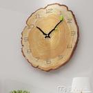 掛鐘北歐掛鐘創意客廳臥室靜音時鐘木紋掛錶現代簡約家居年輪鐘YYS 快速出貨