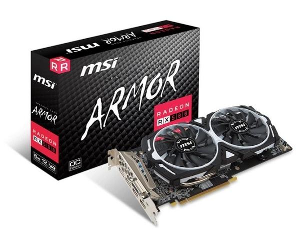 微星 RX 580 ARMOR 8G OC 【刷卡含稅價】