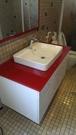 【麗室衛浴】美國 KOHLER Forefront系列 單孔檯上盆 白色K-2660  配  精緻烤漆玻璃+汽烤浴櫃