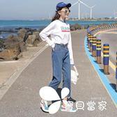 直筒牛仔褲女寬松春秋2018新款韓版顯瘦學生bf百搭闊腿初戀褲子夏