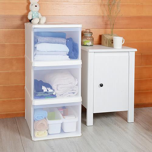 【nicegoods】白帆單層抽屜整理箱45L (3入組)(收納櫃 抽屜櫃 衣櫃 塑膠 整理箱)