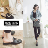 Ann'S放鬆時尚-不破內裡質感牛紋金圓環穆勒鞋-黑