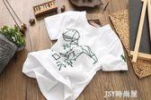 男童純棉T恤短袖兒童寶寶字母圓領短袖t恤夏季新款歐美童裝柔軟潮  JSY時尚屋