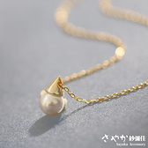 【Sayaka紗彌佳】低調之美精巧三角錐珍珠項鍊 -單一色系