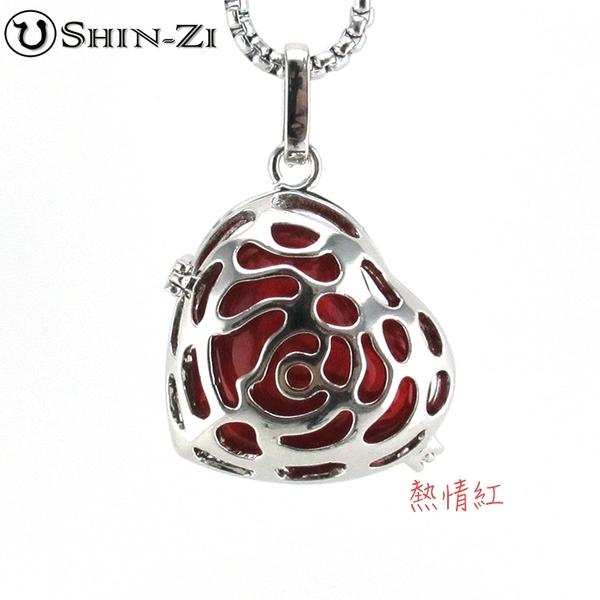歪心玫瑰 手工飾品項鍊 琉璃項鍊 精油項鍊 免塞式項鍊 琉璃瓶項鍊 飾品項鍊 不鏽鋼項鍊