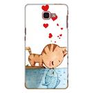Samsung Galaxy A9 2016 A910Y 手機殼 軟殼 兩個世界 貓戀魚