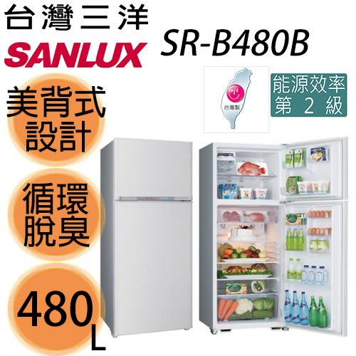 【SANYO三洋】480L風扇雙門冰箱SR-B480B