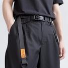 磁力扣機能腰帶男女 國潮潮牌戰術工裝ins暗黑工業風加長尼龍皮帶 樂活生活館