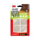 3M 地板保護墊 米色方型 38mm