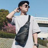 韓版新款男士皮質小挎包 商務皮質ipad胸包 休閒街頭便攜帶單肩包 晴川生活館