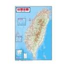 精裱台灣地形圖(全開掛圖)(金時代)