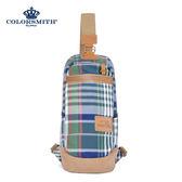 【COLORSMITH】LPC・單肩雙開式後背包-經典綠格紋・LPC1356-CH