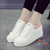 售完即止-休閒鞋內增高鞋女新款百搭秋季鬆糕鞋休閒運動鞋小白鞋庫存清出(4-25T)