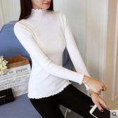 高領毛衣2018韓版秋冬高領打底衫女毛衣長袖套頭短款修身內搭針織衫 爾碩數位3c