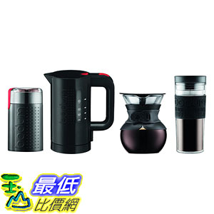[107美國直購] 咖啡機 Bodum K11592-01US Pour Over Set, Black