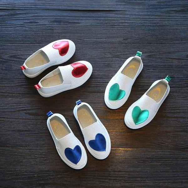 兒童板鞋男童皮鞋女童小白鞋中大童套腳休閒百搭單鞋 K-shoes