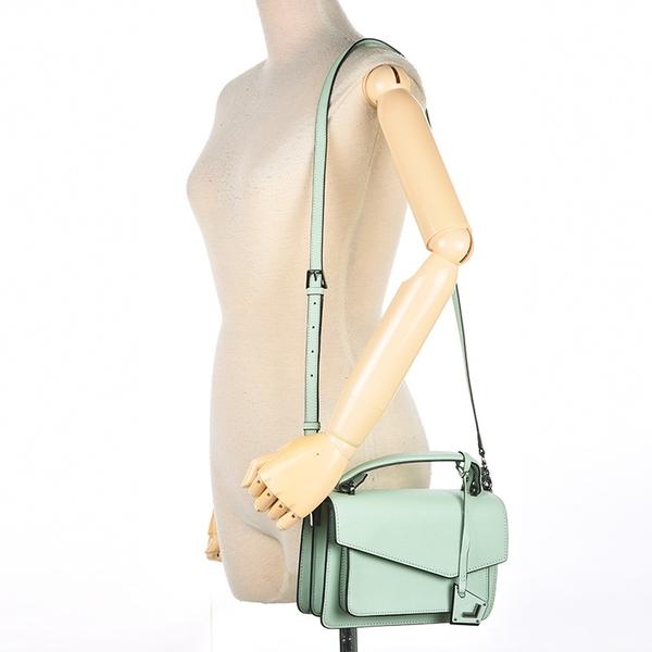 Botkier防刮皮革手提/斜背兩用風琴包(粉綠色)260001-15