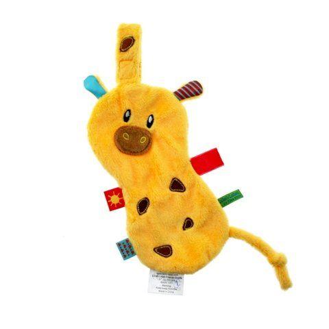 【出清優惠】比利時LABEL LABEL 奶嘴鏈安撫巾 - 假日系列 - 長頸鹿(戒奶嘴及長牙的好幫手)