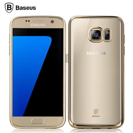 【三亞科技2館】三星 Galaxy S7 5.1吋倍思明金殼超薄TPU電鍍邊框殼 矽膠軟殼 透明套 背蓋殼 手機殼
