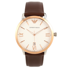 EMPORIO ARMANI雙色時尚皮帶腕錶44mm(AR11211)270804