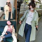 春季女外套新款韓版寬鬆風衣女中長款春裝薄款休閒百搭春夏 店家有好貨