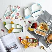 兒童餐盤創意陶瓷早餐盤可愛卡通飛機餐盤分格盤子寶寶飯盤餐具 居享優品