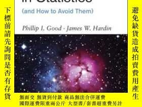 二手書博民逛書店Common罕見Errors In StatisticsY464532 Phillip I. Good; Ja